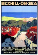 Bexhill on Sea, East Sussex. SR Vintage Travel Poster by Verney L Danvers. 1928